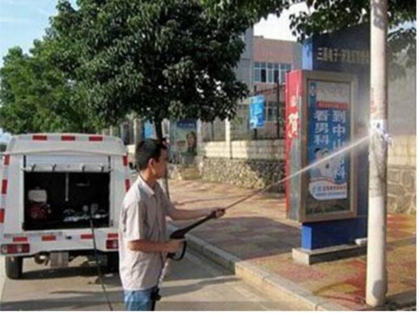 路面清洗车效果