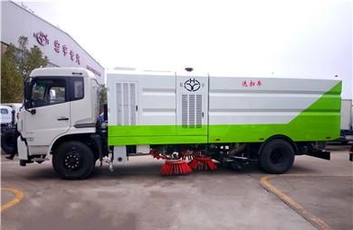 东风天锦16吨天然气洗扫车