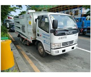 广东省道路清扫吸尘车在深圳市上牌成功案例
