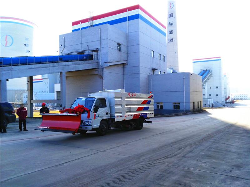 山西发电厂吸尘车成功案例