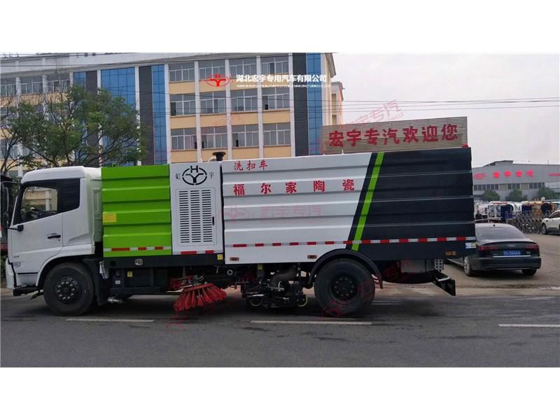 陶瓷厂18吨洗扫车成功案例