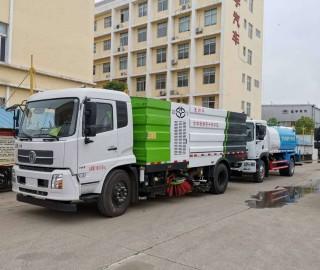 东风天锦大型洗扫车 洒水抑尘车发往吉林通化
